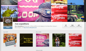 River Expeditions Instagram Page