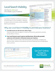 Local Search Visibility brochure
